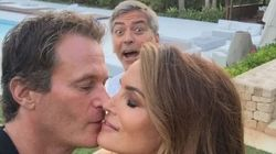 George Clooney s'incruste sur une photo de Cindy Crawford et son