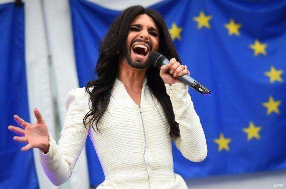 PHOTOS. Conchita Wurst chante au Parlement européen pour la diversité et la