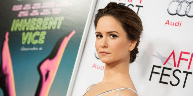 Katherine Waterston arrives at 2014 AFI Fest