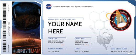 La NASA offre un ticket pour