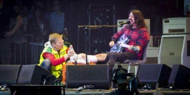 Dave Grohl blessé, les Foo Fighters annulent la fin de leur tournée