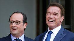 Schwarzy rencontre Hollande pour discuter du climat. En quel