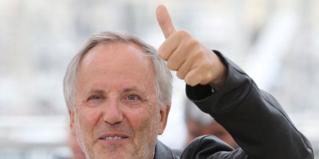 Actor Fabrice Luchini poses for photographers during a photo call for the film Ma Loute (Slack Bay) at...