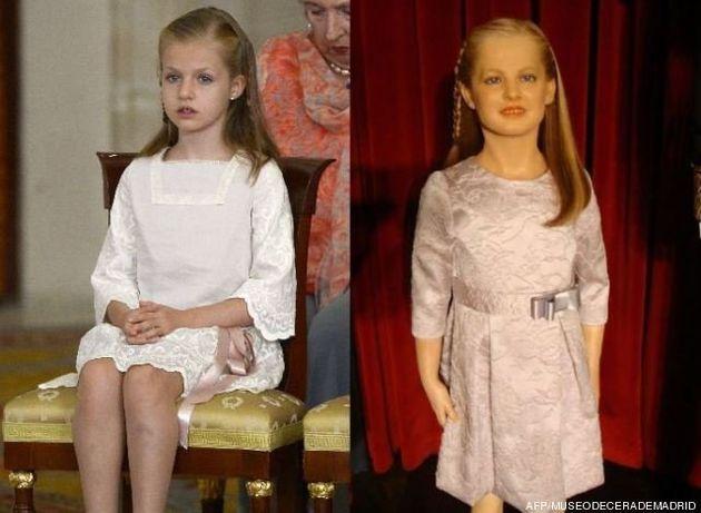 Famille royale espagnole: l'angoissante statue de cire de la Princesse Leonor exposée à