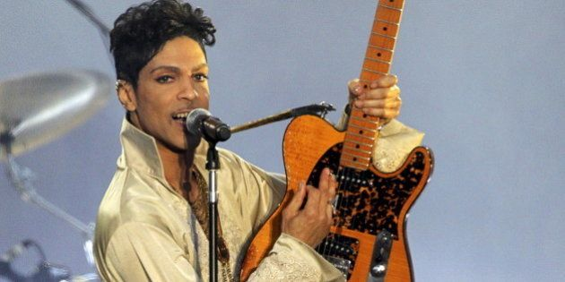 U.S. musician Prince performs for the first time in Britain since 2007 at the Hop Farm Festival near...