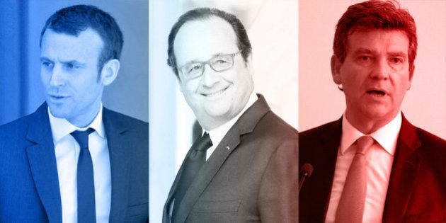 Pris en étau entre Montebourg et Macron, Hollande défend sa