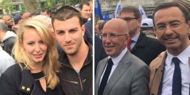 Marion Maréchal Le Pen et les autres politiques présents à la manifestation des