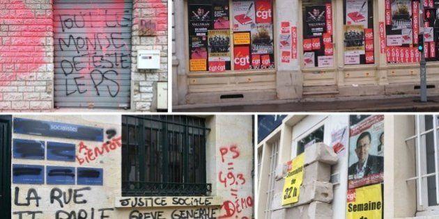 Vandaliser les permanences PS, le sport de combat des manifs anti-loi