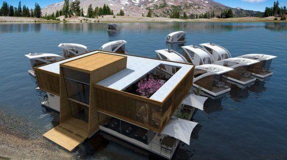 PHOTOS. Un hôtel flottant sur les eaux intérieures pour préserver la