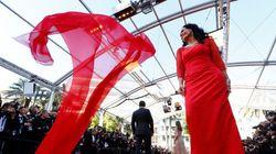 PHOTOS. La robe virevoltante de l'actrice brésilienne Sonia Braga sur le tapis rouge de