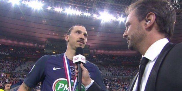 L'interview (gênante) de Zlatan Ibrahimovic après le match OM-PSG a fait rire tout le