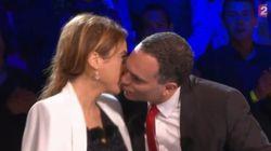 Le baiser de cinéma de Léa Salamé et Yann
