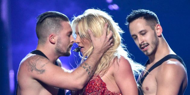 Britney Spears performs at the Billboard Music Awards at the T-Mobile Arena on Sunday, May 22, 2016,...