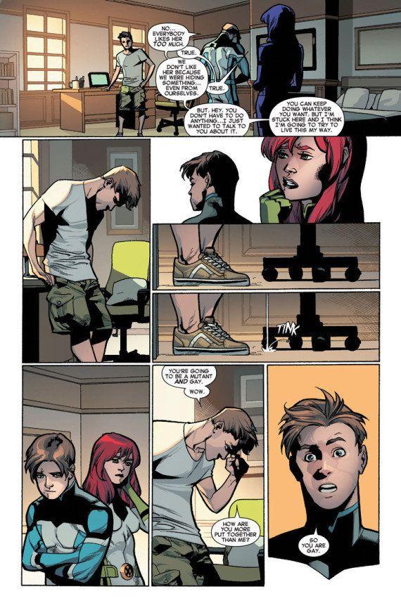 Iceberg de X-Men fait son coming out dans un comics