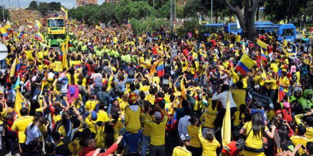 Coupe du monde: un accueil triomphal pour la Colombie de retour du