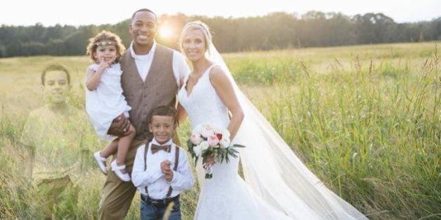 Cette photo de mariage retouchée a ému les