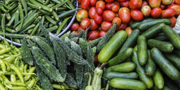 Fresh vegetables on