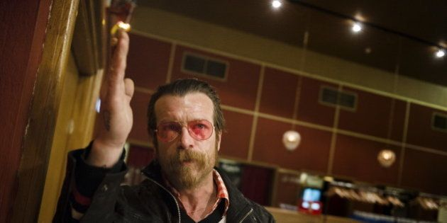 Singer of Eagles of Death Metal, Jesse Hughes, is pictured prior to their concert at Debaser Medis in...