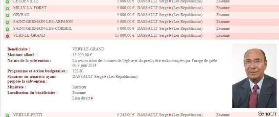 Comment votre sénateur a dépensé les milliers d'euros de sa réserve