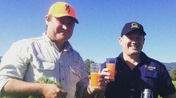 En Australie, on boit de la bière à la