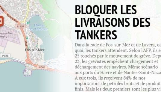 CARTE - Tanker, raffinerie, dépôt... le parcours de la pénurie organisée par les