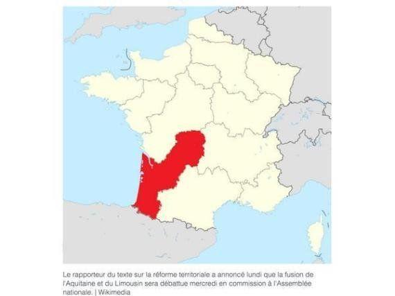 Réforme territoriale: la forme de la nouvelle région Aquitaine-Limousin amuse les