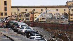 Un quai s'effondre à Florence près du Ponte