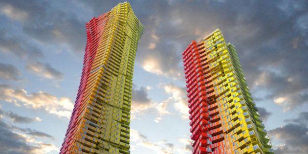 PHOTOS. Des gratte-ciel en containers pour lutter contre la surpopulation à