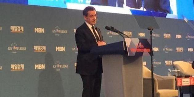 Sarkozy donne une conférence rémunérée à Séoul, la première depuis son retour en