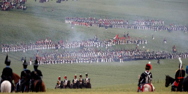 PHOTOS. La reconstitution de la bataille de Waterloo en