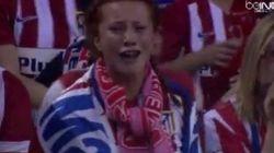 Cette supportrice (très) sensible de l'Atletico Madrid en finale de Ligue des champions a amusé les