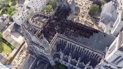 La basilique nantaise filmée par un drone après