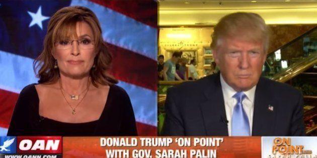 VIDÉO. En interviewant Donald Trump, Sarah Palin accuse les journalistes d'être