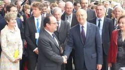 Visite avec Juppé et manifestants pour Hollande à la Cité du