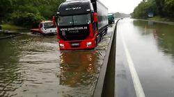 Les images des inondations dans le