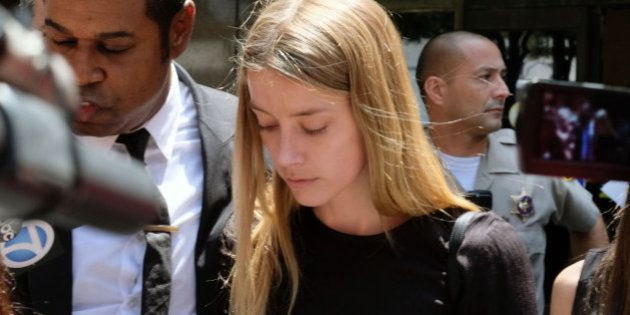 Actress Amber Heard leaves Los Angeles Superior Court court on Friday, May 27, 2016, after giving a sworn...