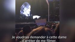 Adele gronde une fan qui filme son