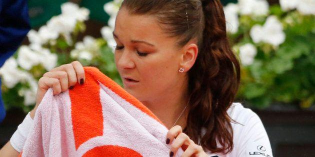 Tennis - French Open - Roland Garros - Tsvetana Pironkova of Bulgaria v Agnieszka Radwanska of Poland...