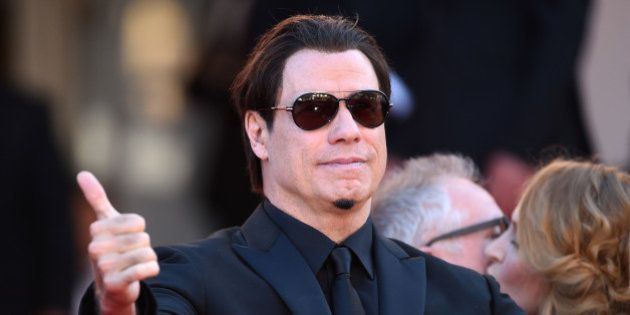 CANNES, FRANCE - MAY 23: John Travolta attends the 'Clouds Of Sils Maria' premiere during the 67th Annual...