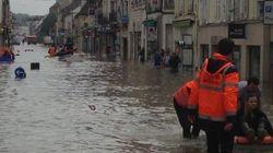 Crue historique à Nemours, les habitants évacués par