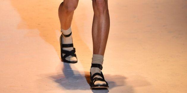 À la Fashion Week Homme, Versace, Marni et Bottega Veneta sortent sandales et