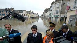 Hollande annonce l'état de catastrophe naturelle, Valls un fonds de