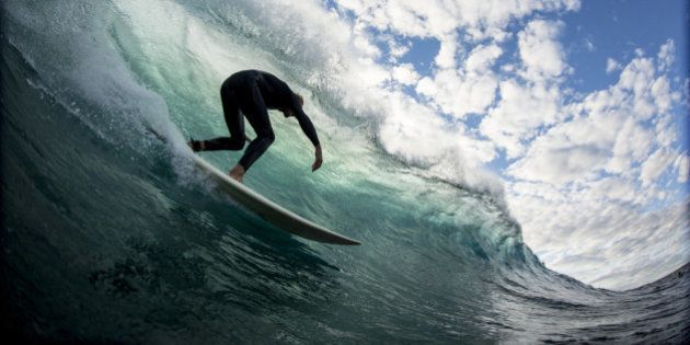 The moment before you pull in to a perfect barrel and get that vision that every one is