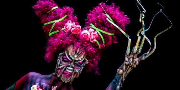 PHOTOS. Bodypainting: des corps nus transformés en chefs-d'oeuvre lors du festival