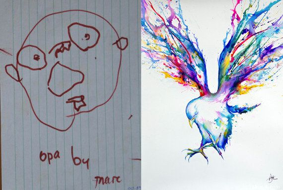 Apprendre à dessiner : des dessins avant/après des années de