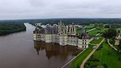 L'inondation du château de Chambord filmée par un