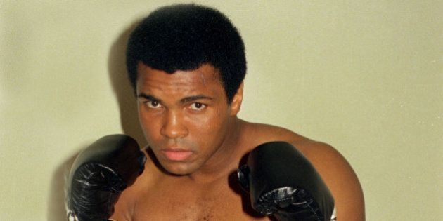 FILE - This is an Oct. 9, 1974, file photo showing Muhammad Ali. Ali, the magnificent heavyweight champion...