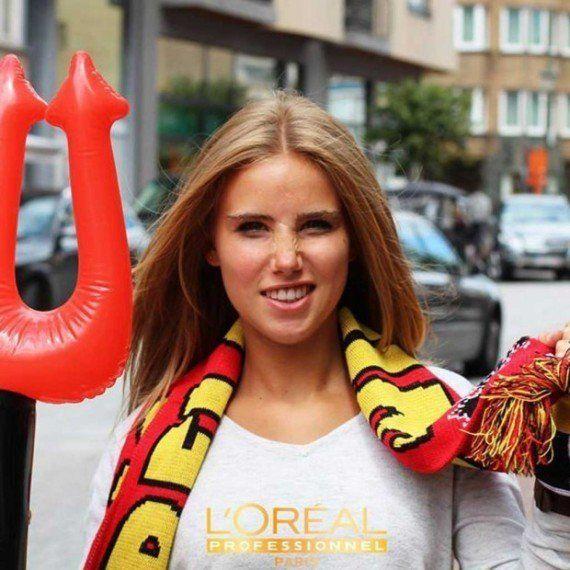 Axelle Despiegelaere: L'Oreal ne renouvelle pas son contrat après une photo de la supportrice à la