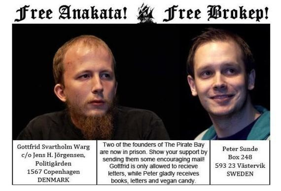 Pirate Bay demande aux internautes d'envoyer des lettres et des bonbons à ses fondateurs en