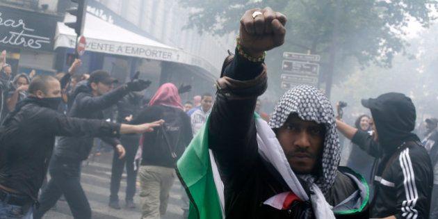 PHOTOS. Israël/Palestine: débordements en marge d'une manifestation pro-Gaza à